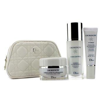 Christian Dior Diorsnow White Reveal Program Set: White Reveal Essence + Fresh Cream + Moisturizing UV Protection SPF 50 + Bag  3pcs+1bag