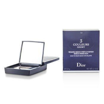 Christian Dior 3 Couleurs Smoky Ready To Wear Paleta Ojos - # 781 Smoky Brown  5.5g/0.19oz