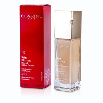 Clarins Skin Illusion Natural Radiance Base de Maquillaje SPF 10 - # 110 Honey  30ml/1.1oz