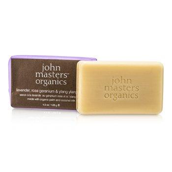 John Masters Organics Lavender, Rose geranium & Ylang Ylang Sabun  128g/4.5oz