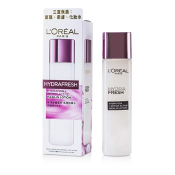 L'Oreal Hydrafresh Hydration+ Antiox Active Mask-In Lotion  175ml/4.2oz