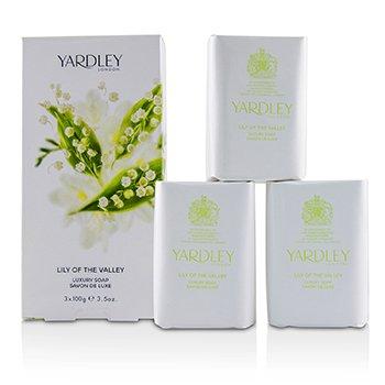 Yardley Sabonete Lily Of The Valley Luxury Soap  3x100g/3.5oz
