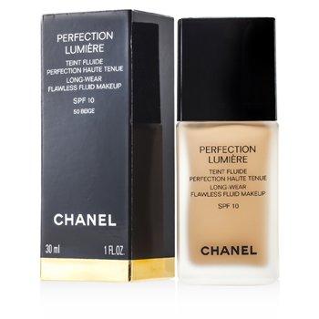 Chanel Podkład w płynie Perfection Lumiere Long Wear Flawless Fluid z SPF 10 - #50 Beige  30ml/1oz