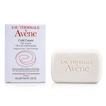 Avene Cold Cream Ultra Rich Cleansing Bar (For Dry & Very Dry Sensitive Skin)  100g/3.52oz
