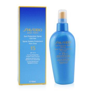 Shiseido Spray Protección Solar sin Aceite SPF15  150ml/5oz