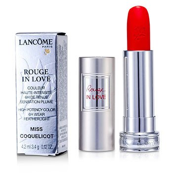 Lancome Rouge In Love Lipstick - # 146B Miss Coquelicot  4.2ml/0.12oz