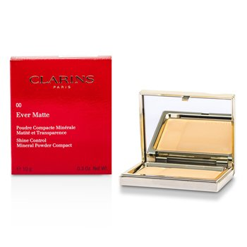 Clarins Matuj�cy puder prasowany Ever Matte Shine Control Mineral Powder Compact - #00 Transparent Opale  10g/0.35oz