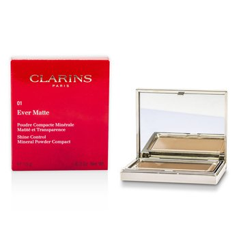 Clarins Ever Matte Shine Control Mineral Powder Compact - # 01 Transparent Light  10g/0.35oz