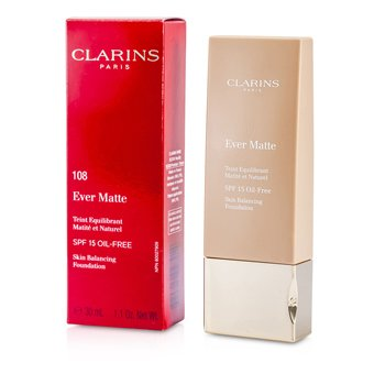 Clarins Ever Matte Skin Balancing Base de Maquillaje libre de Aceite SPF 15 - # 108 Sand  30ml/1.1oz