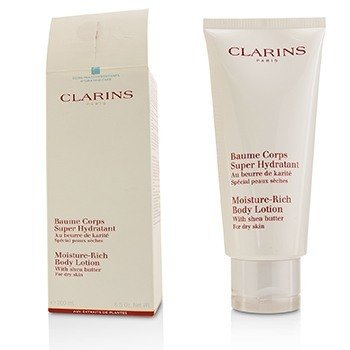 Clarins Moisture Rich Body Lotion with Shea Butter - Dry Skin (Box Slightly Damaged)  200ml/6.5oz