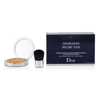 Christian Dior Diorskin Nude Tan Nude Glow Sun Powder (With Kabuki Brush) - # 001 Honey  10g/0.35oz