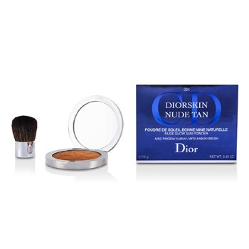 Christian Dior Diorskin Nude Tan Nude Glow Sun Powder (With Kabuki Brush) - # 004 Spicy  10g/0.35oz