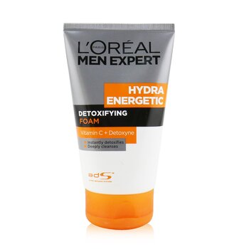 L'Oreal Men Expert Hydra Energetic Detoxifying Foam  100ml/3.4oz