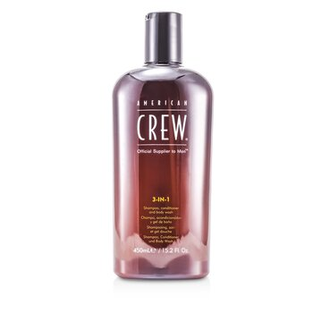 American Crew Men Classic 3-IN-1 Shampoo, Conditioner & Body Wash  450ml/15.2oz