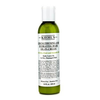 Kiehl's Strengthening And Hydrating Hair Oil-In-Cream (Daily Leave-In for Dry, Damaged Hair)  180ml/6oz