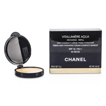 Chanel Vitalumiere Aqua Fresh And Hydrating Cream Compact MakeUp SPF 15 Refill - # 30 Beige  12g/0.42oz