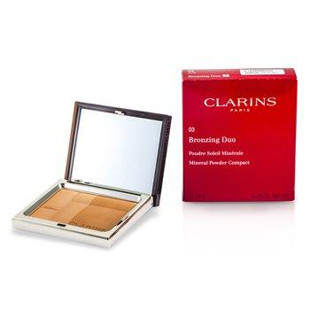 Clarins Pó compacto Bronzing Duo Mineral Powder Compact SPF 15 - 03 Dark  10g/0.35oz