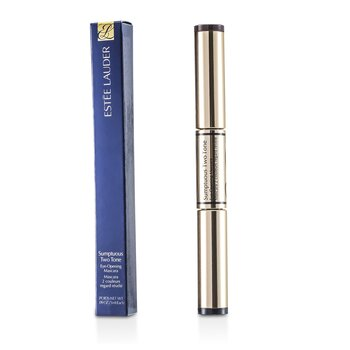 Estee Lauder Sumptuous Two Tone Eye Opening Máscara - # 01 Bold Black/Rich Brown  2x3ml/0.09oz