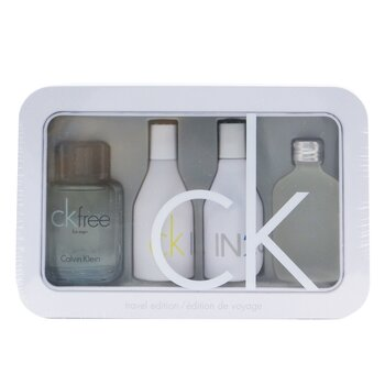 Calvin Klein Estuche Edición Viaje: CK One Edt 15ml/0.5oz + CK Free Edt 10ml/0.33oz + IN2U Women Edt 15ml/0.5oz + IN2U Men Edt 15ml/0.5oz  4pcs
