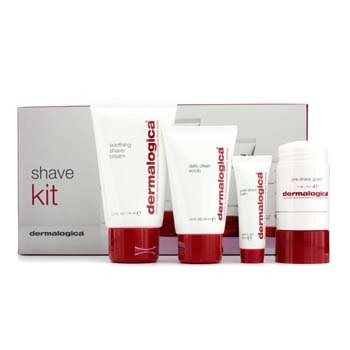 Dermalogica Shave Kit: Exfoliante 44ml + Pre-Shave Guard 28.3g + Shave Cream 74ml + Bálsamo pós barba Post-Shave Balm 10ml  4pcs