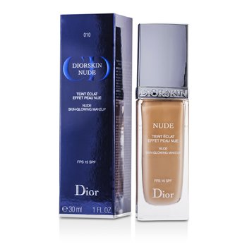 Christian Dior Base Diorskin Nude Skin Glowing Makeup SPF 15 - # 010 Ivory  30ml/1oz