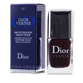Christian Dior Dior Vernis Haute Couleur Extreme Wear Nail Lacquer - # 987 Smoking Plum  10ml/0.33oz