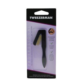 Tweezerman Professional Folding Ilashcomb - Black