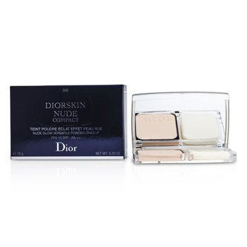 Christian Dior Diorskin Nude Compact Nude Glow Polvo de Maquillaje Vers�til SPF 10 - # 010 Ivory  10g/0.35oz