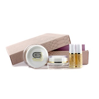 Sisley Estojo antiidade Anti-Age Prestige Kit: Sisleya Global Anti-Age Cream 50ml+Sisleya Creme modelador para olhos & lábios 15ml+Sisleya Elixir  5ml x 2  4pcs