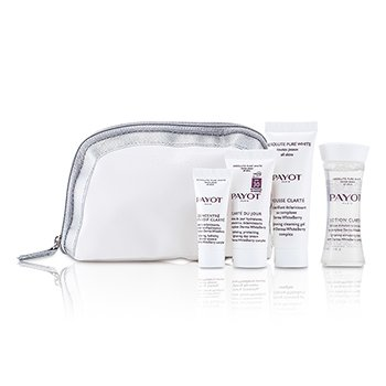 Payot Set Absolute Pure White: Loción 30ml +  Mousse Clarte 25ml + Clarte Du Jour 15ml + Concentrado Anti-soif Clarte 10ml  4pcs