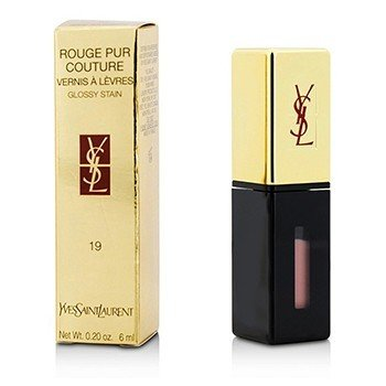 Yves Saint Laurent Rouge Pur Couture Vernis a Levres Glossy Stain - # 19 Beige Aquarelle  6ml/0.2oz
