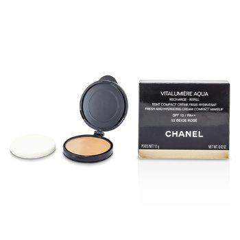 Chanel Pó compacto Vitalumiere Aqua Fresh And Hydrating Cream Compact MakeUp SPF 15 Refill - # 52 Beige Rose  12g/0.42oz