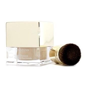 Clarins Mineralny podkład sypki z ekstraktami roślinnymi Skin Illusion Mineral & Plant Extracts Loose Powder Foundation (z pędzelkiem) - #105 Nude  13g/0.4oz