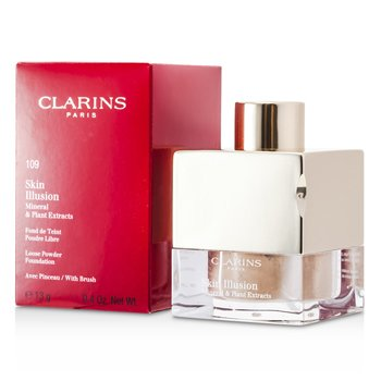 Clarins Skin Illusion Mineral & Plant Extracts Loose Powder Foundation (With Brush) - # 109 Wheat  13g/0.4oz