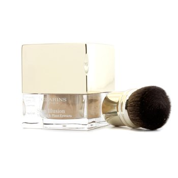 Clarins Skin Illusion Mineral & Plant Extracts Loose Powder Foundation (With Brush) - # 112 Amber  13g/0.4oz