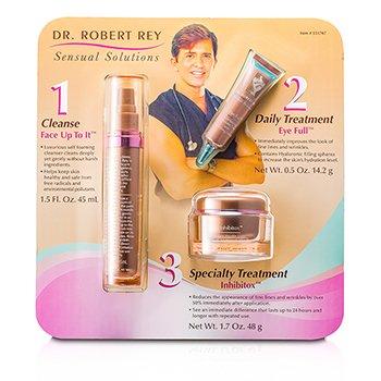 Dr Robert Rey Kit Sensual Solutions: Loção de limpeza 45ml + Creme preencher rugas 14.2g + Creme apagador de rugas 48g  3pcs