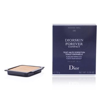 Christian Dior Diorskin Forever Compact Flawless Perfection Fusion Wear Makeup SPF 25 Refill - #040 Honey Beige  10g/0.35oz