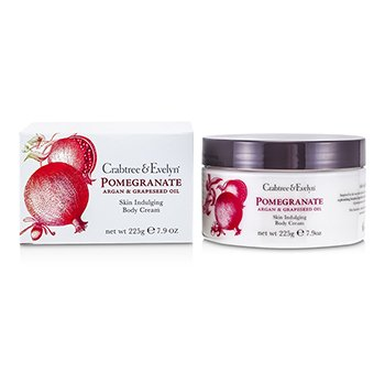 Crabtree & Evelyn Pomegranate, Argan & Grapeseed Body Cream  225g/7.9oz