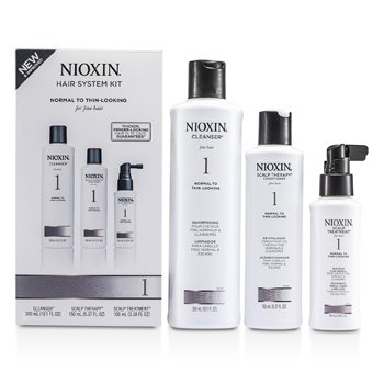 Nioxin System 1 System Kit For Fine Hair, Normal to Thin-Looking Hair  3pcs