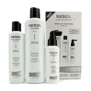 Nioxin Set Sistema 1 Cabellos Finos y Normales (Embalaje ligeramente dañado)  3pcs