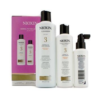 Nioxin System 3 Κιτ Συστήματος για Λεπτά Μαλλιά, Χημικά Ταλαιπωρημένα, Κανονικά προς Αραιωμένα Μαλλιά  3pcs