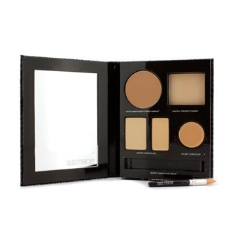 Laura Mercier The Flawless Face Book - # Sand (1x Creme Compact, 1x Pressed Powder w/ sponge, 1x Secret Camouflage...)  5pcs