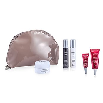 Christian Dior Set Diorshow White Reveal: Crema Fresca + Esencia + Concentrado de Noche + One Essential 10ml + One Essential 2ml + Bolso  5pcs+1bag