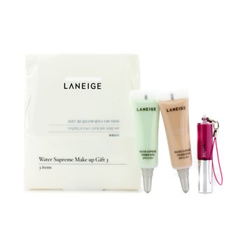 Laneige Water Supreme Make Up Gift 3: 1x Mini Lip Gloss, 1x Mini Foundation SPF 15, 1x Primer Base SPF 15  3pcs