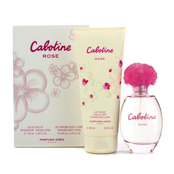 Gres Cabotine Rose Coffret: Eau De Toilette Spray 100ml/3.4oz + Perfumed Body Lotion 200ml/6.76oz  2pcs