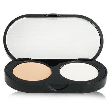 Bobbi Brown ست کرم های پوشاننده لک و عیوب پوست - کانسیلر کرمی با رنگ روشن + پودر فشرده آرایشی سفید   3.1g/0.11oz