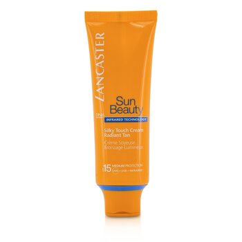 Lancaster Krem samoopalizujący do twarzy Silky Touch Cream Radiant Tan SPF 15 (Medium Protection)  50ml/1.7oz