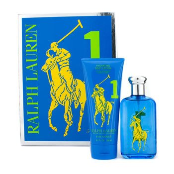 Ralph Lauren Colecci�n Big Pony #1 Blue: Eau De Toilette Spray 100ml/3.4oz + Loci�n Hidratante Corporal 200ml/6.7oz  2pcs