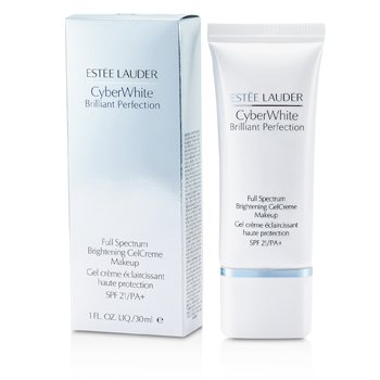 Estee Lauder Cyber White Brilliant Perfection Full Spectrum Maquillaje Gel Crema Blanqueador SPF 21 - # 05 Cool Creme  30ml/1oz