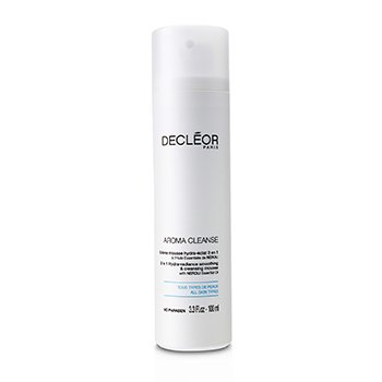 Decleor Lo��o de limpeza Aroma Cleanse 3 em 1 Hydra-Radiance Smoothing & Cleansing Mousse  100ml/3.3oz